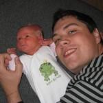 My med sin far